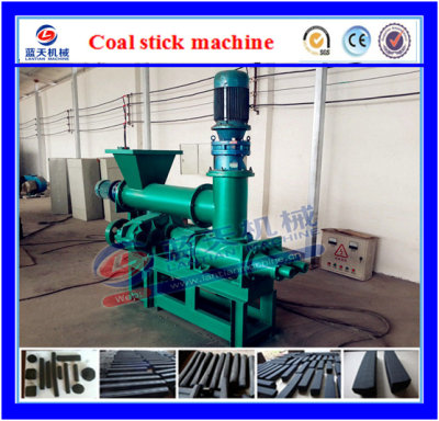 Charcoal rod extruder machine