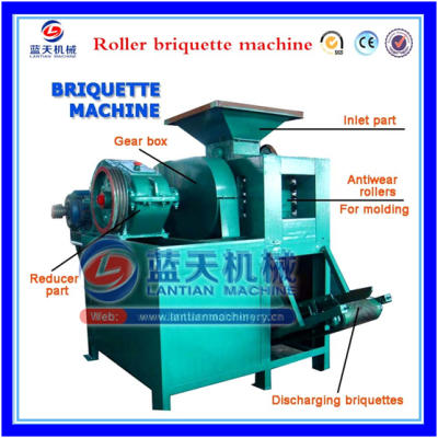 Roller press briquette machine
